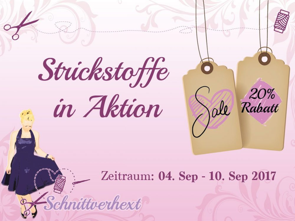 Strickstoff in Aktion