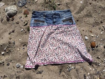 Rock aus alter Jeans